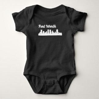 Fort Worth TX Skyline Baby Bodysuit