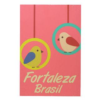 Fortaleza Brazil vintage travel poster