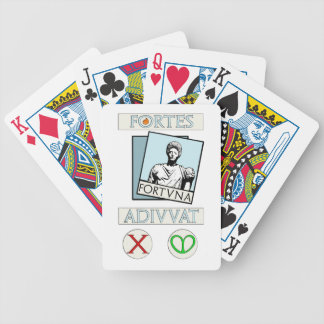 Fortes Fortuna Adiuvat Bicycle Playing Cards