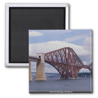 Forth Rail Bridge, Scotland Square Magnet