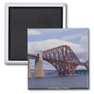 Forth Rail Bridge, Scotland Square Magnet