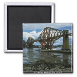 Forth Railway Bridge over Firth, Scotland Magnet