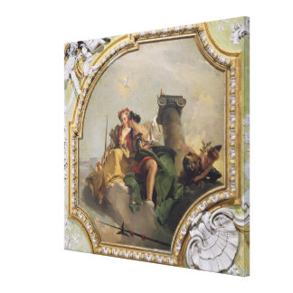 Fortitude and Justice, from the 'Sala Capitolare' Canvas Print