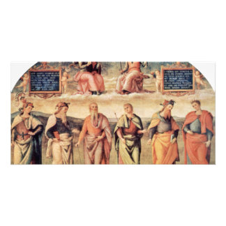 Fortitude And Temperance With Ancient Heroes Customized Photo Card
