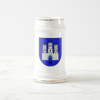 Fortress Europe White+Gold Beer Stein