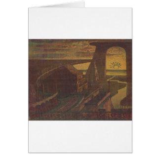 Fortress (Fortress Fairy Tale) Mikalojus Ciurlioni Greeting Card
