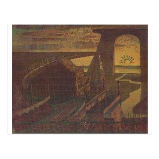 Fortress (Fortress Fairy Tale) Mikalojus Ciurlioni Postcard