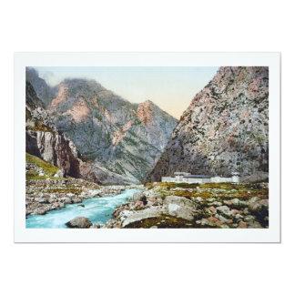 Fortress in the Dariel Ravine, Caucasus, Russia 13 Cm X 18 Cm Invitation Card