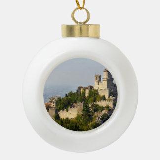 Fortress of Città di San Marino, Italy Ceramic Ball Decoration