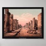 Fortuna Street, Pompeii, Italy Posters