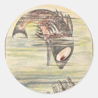 Fortunate Fish Finds Firewater Round Sticker