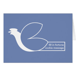 Fortune cookie carrier pigeon card