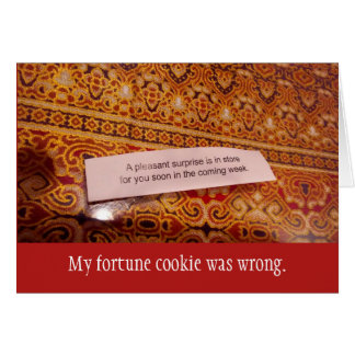 Fortune Cookie Co-worker Farewell Card
