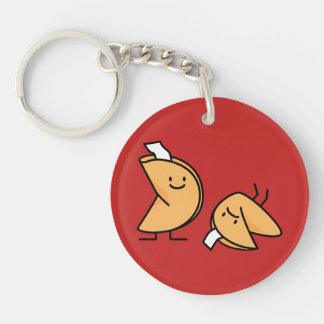 Fortune cookie crispy Chinese sweet dessert lucky Key Ring