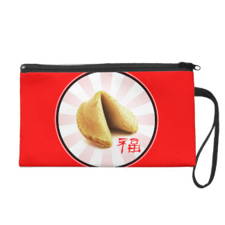 Fortune Cookie 'Luck' Wristlet (red)