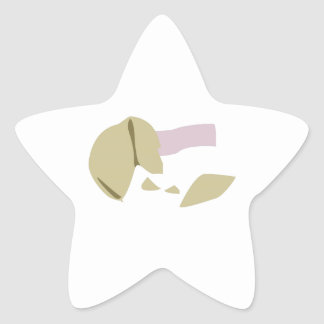 Fortune Cookie Star Sticker