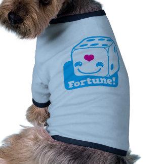 FORTUNE cute little kawaii dice Ringer Dog Shirt