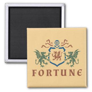 Fortune Dragon Shield Square Magnet