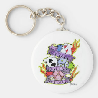 Fortune Favours Basic Round Button Key Ring