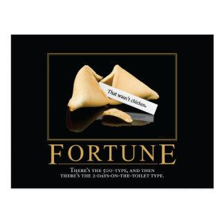 Fortune Motivational Parody Postcard