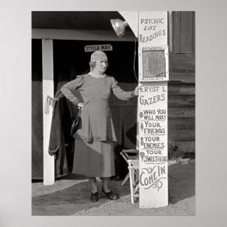 Fortune Teller, 1938. Vintage Photo Poster