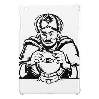 Fortune Teller Eye on Crystall Ball Woodcut iPad Mini Cover
