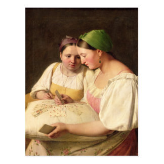 Fortune-Telling, 1842 Postcard