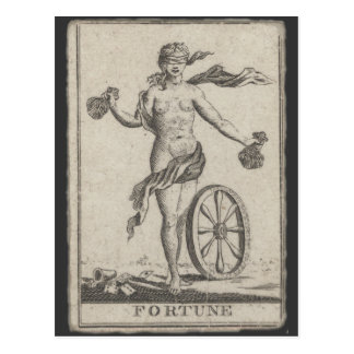Fortune Telling Card, Antique Tarot Postcard