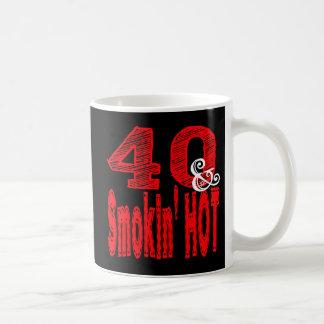 Forty and Smoking Hot Coffee Mug