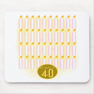 Forty Candles 40th Birthday Gifts Mouse Pad