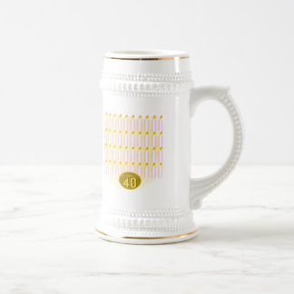 Forty Candles 40th Birthday Gifts 18 Oz Beer Stein
