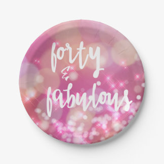 Forty & Fabulous - 40th Birthday Paper Plates