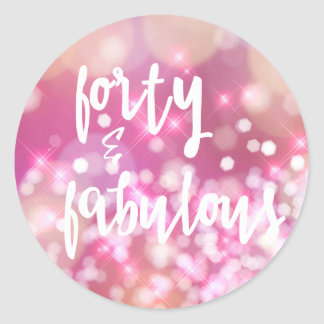 Forty & Fabulous - Glam 40th Birthday Stickers