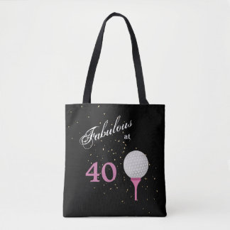 Forty Fabulous Golf Tote Bag