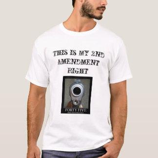 forty-five-handgun and 2nd Amendment T-Shirt