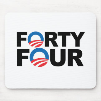 FORTY FOUR WIH OBAMA -.png Mousepads