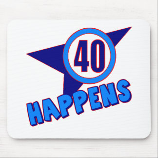 Forty Happens 40th Birthday Gifts Mousepad