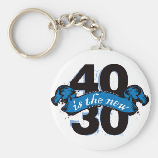 Forty Is The New Thirty - Blue Keychain