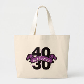 Forty Is The New Thirty - Purple Jumbo Tote Bag