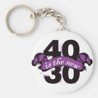 Forty Is The New Thirty - Purple Key Chain