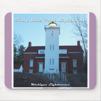 Forty Mile Point Lighthouse Mousepad