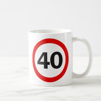 Forty Road Sign Classic White Coffee Mug