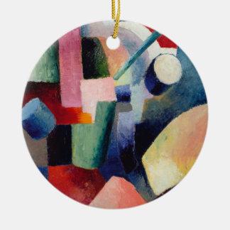 Forum of color round ceramic decoration