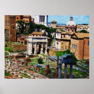 Forum Panorama Rome Photo 2009 Poster