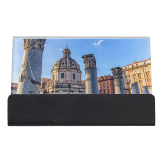 Forum Romanum, Rome, Italy Desk Business Card Holder
