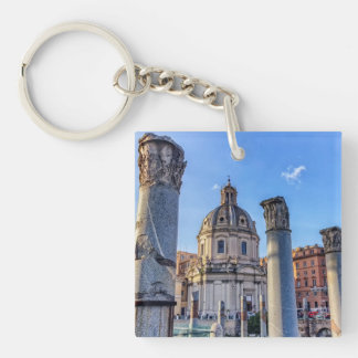 Forum Romanum, Rome, Italy Double-Sided Square Acrylic Key Ring