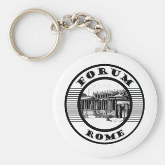 FORUM ROME BASIC ROUND BUTTON KEY RING