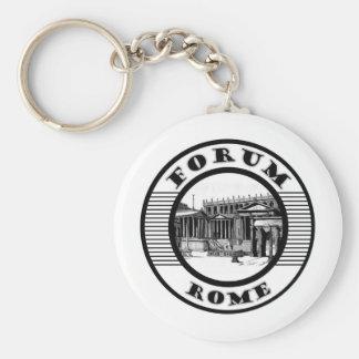 FORUM ROME BASIC ROUND BUTTON KEY RING