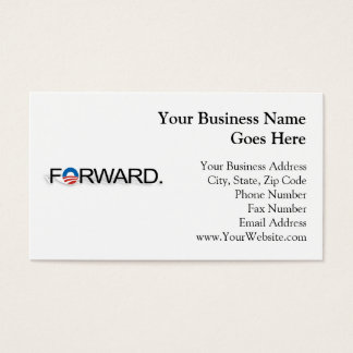 Forward for Obama 2012 Business Card