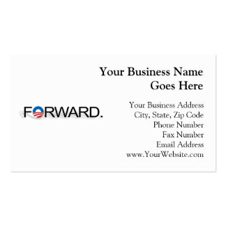 Forward for Obama 2012 Business Cards